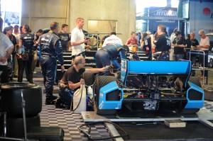 Alex Tagliani's car in the paddock - pre-race