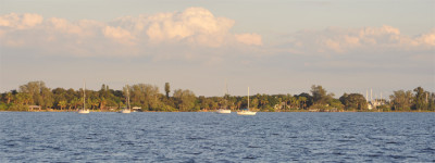 Boats Anchored - Manatee River