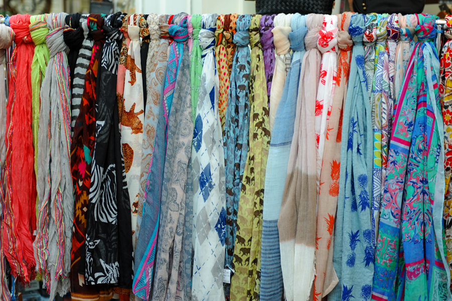 """Excuse me, """"Do you sell scarfs?"""""""