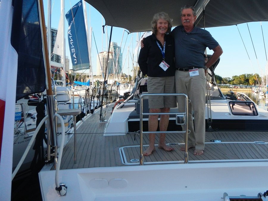 Vela and Joel Potter at the St. Pete Boat Show