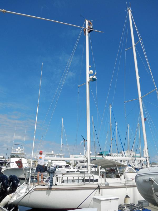 Aloft on the Mizzen Mast