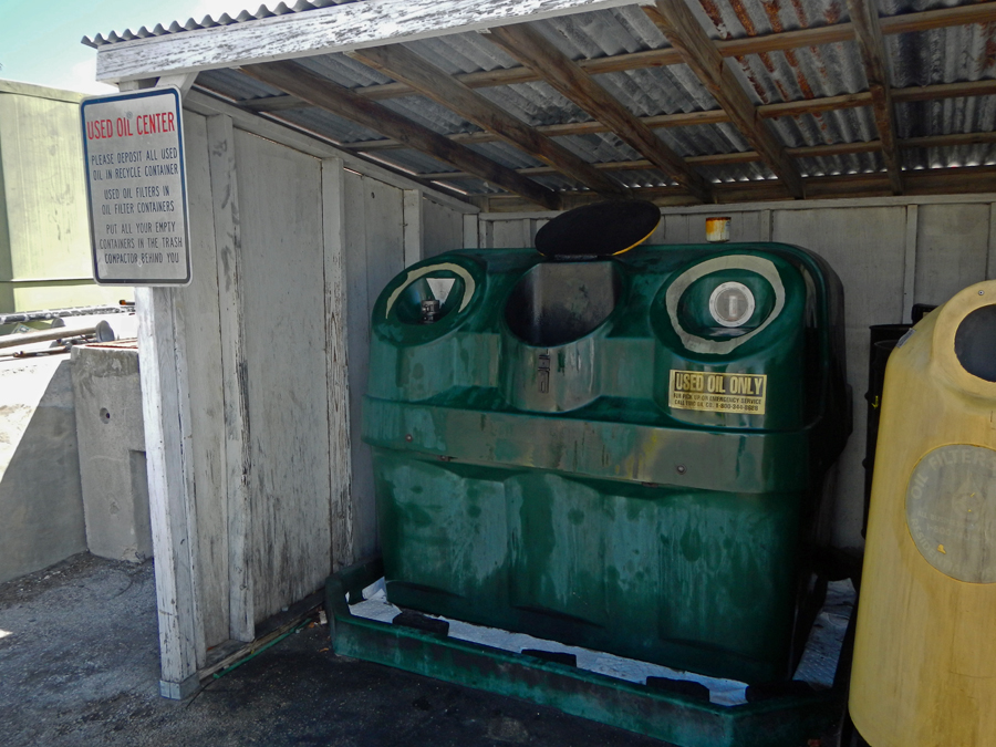 The Key West Oil Recycle Center - Not a top tourist attraction