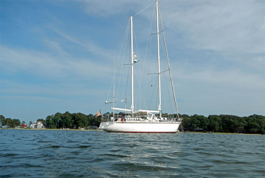 Our First Anchorage in The Chesapeake Bay