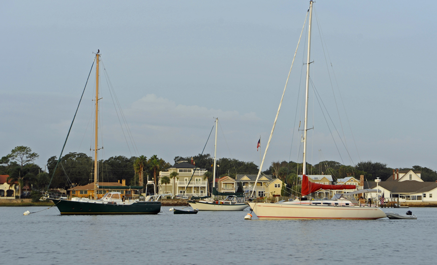 Boats on Moorings