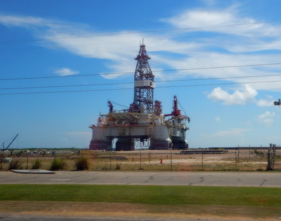 Drilling Rig near the Gulf of Mexico