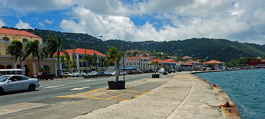 Charlotte Amalie waterfront on Long Bay