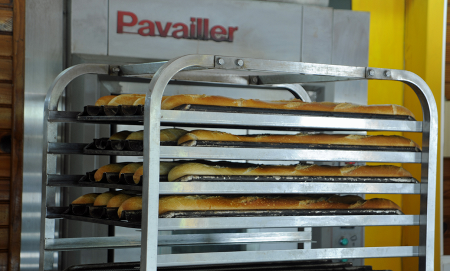 Baguettes fresh from the oven