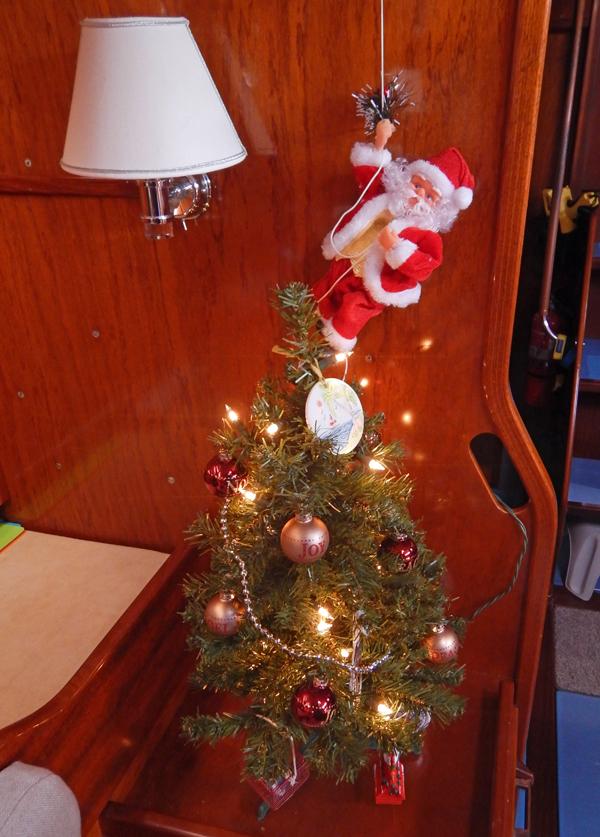 Santa on a rope