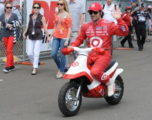 Dario Franchitti - Favorite to win but crashed