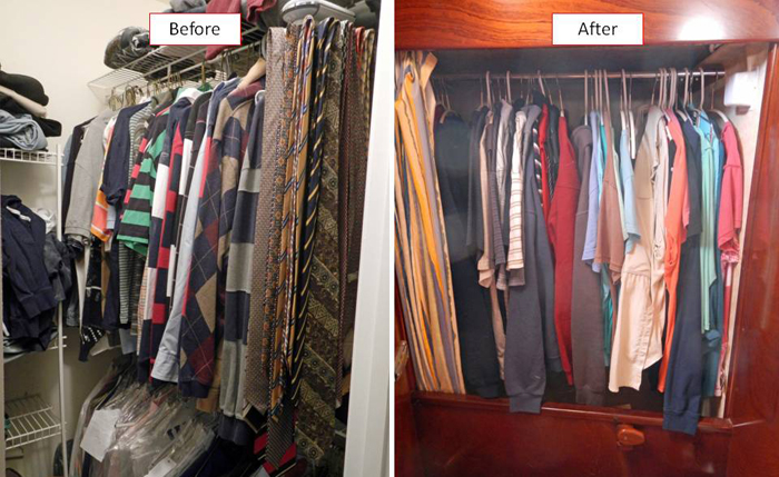 From walk in closets to a shared closet