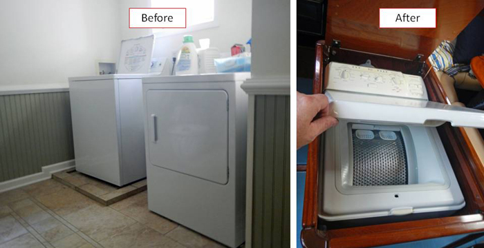 From a full size washer and dryer to a mini washer and (almost) dryer