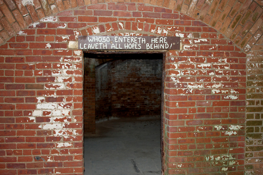 Entrance to Dr. Mudd's cell