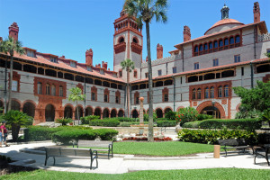Ponce De Leon Hotel Courtyard - 1887 - Now Flagler College