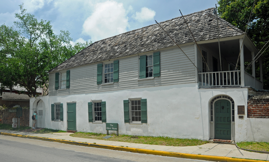 St Augustine's Oldest House - circa 1702 - Spanish lower, British upper