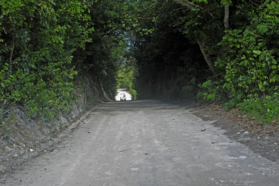 Road going toward New Plymouth. New Plymouth is the main or downtown on Green Turtle Cay