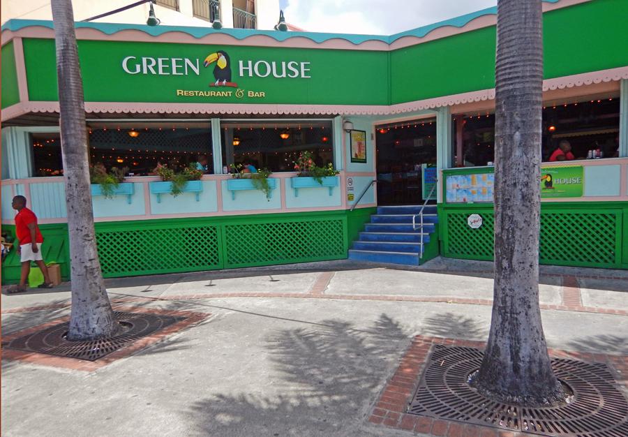 Green house restaurant St Thomas, USVI