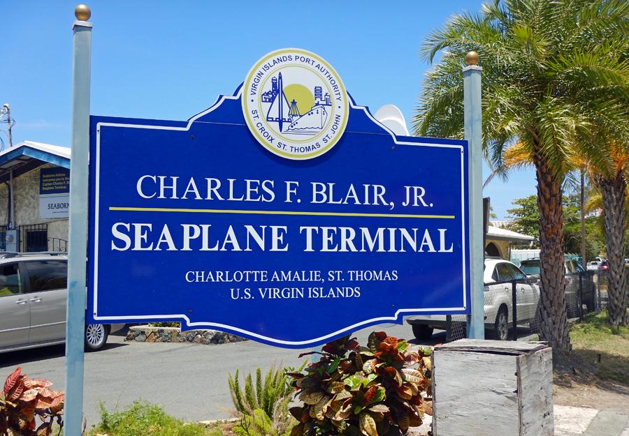 Charles Blair seaplane terminal St Thomas, USVI