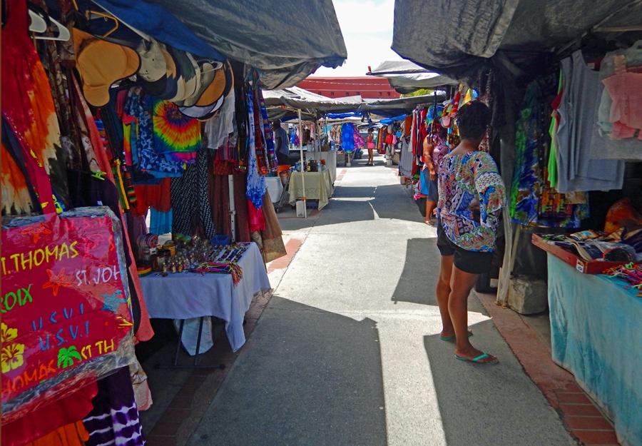 Vendors market St Thomas, USVI
