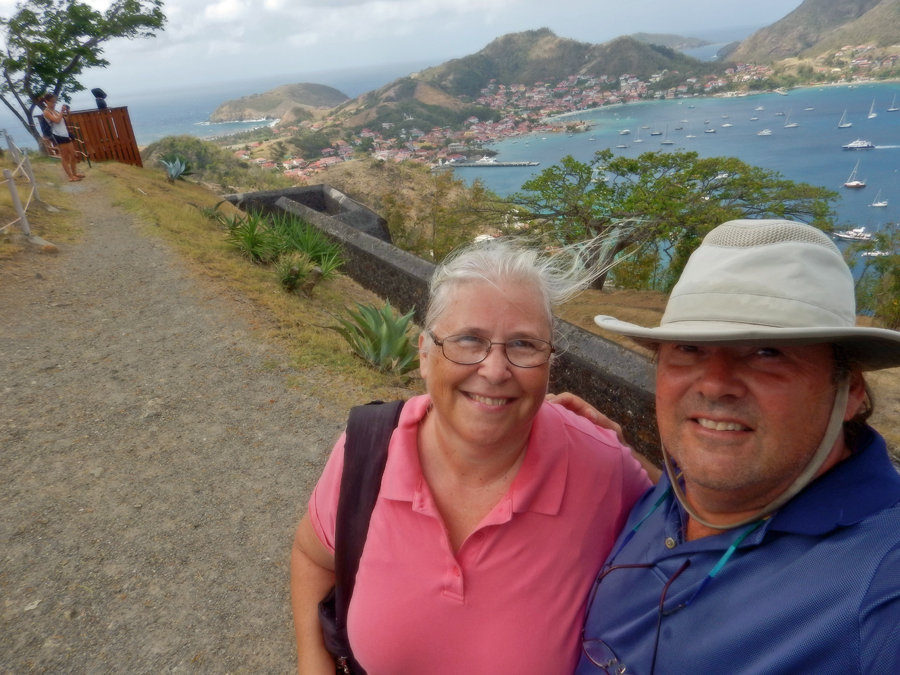 A selfie from the perimeter of Fort Ft Napoleon, Îles des Saintes, Guadeloupe