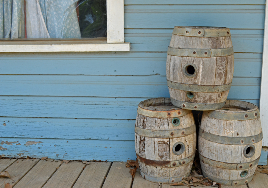 I'm guessing either whisky or beer barrels