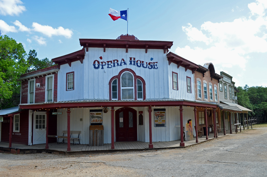 The opera house in Pioneer Town