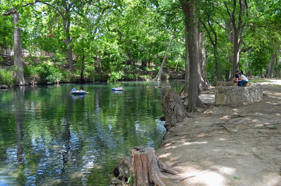 Tubing on Cyprus Creek