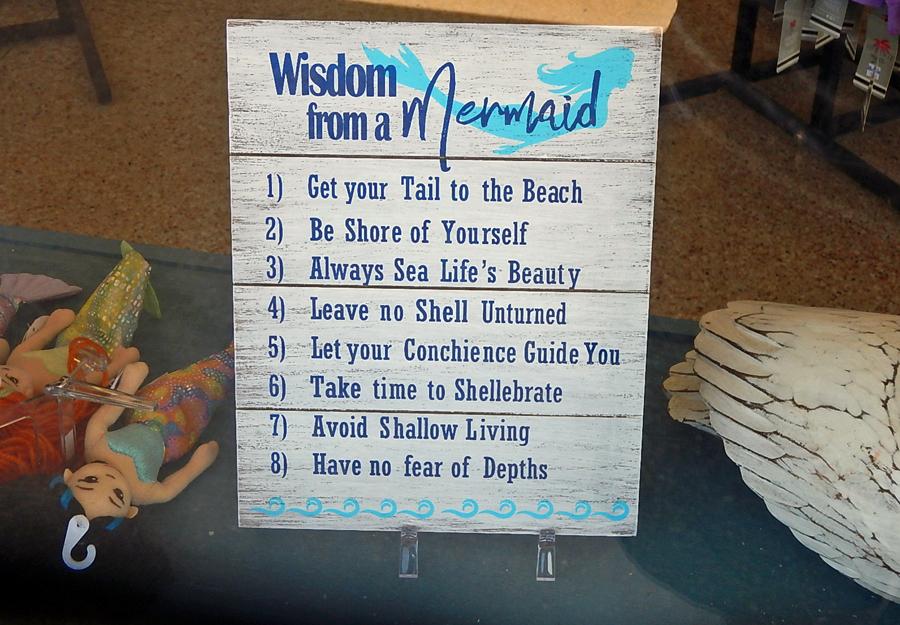 Wisdom from a mermaid