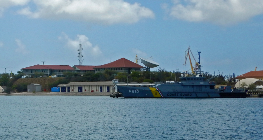 The Coast Guard station across the water - we'd better behave ourselves