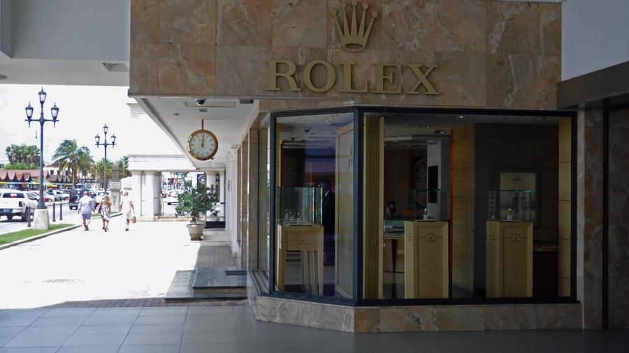 The fancy Rolex shop