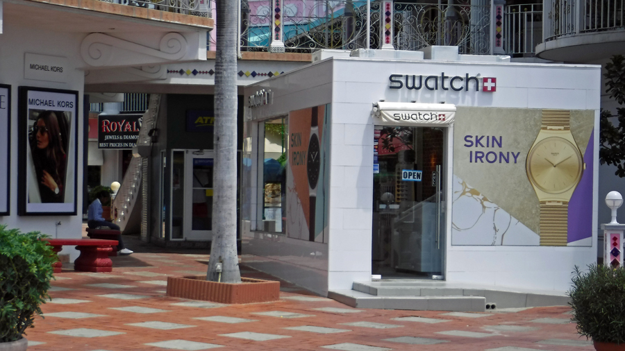 The not so fancy Swatch shop