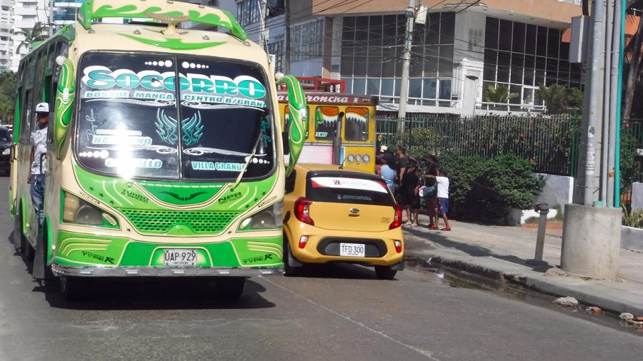 Colorful city bus