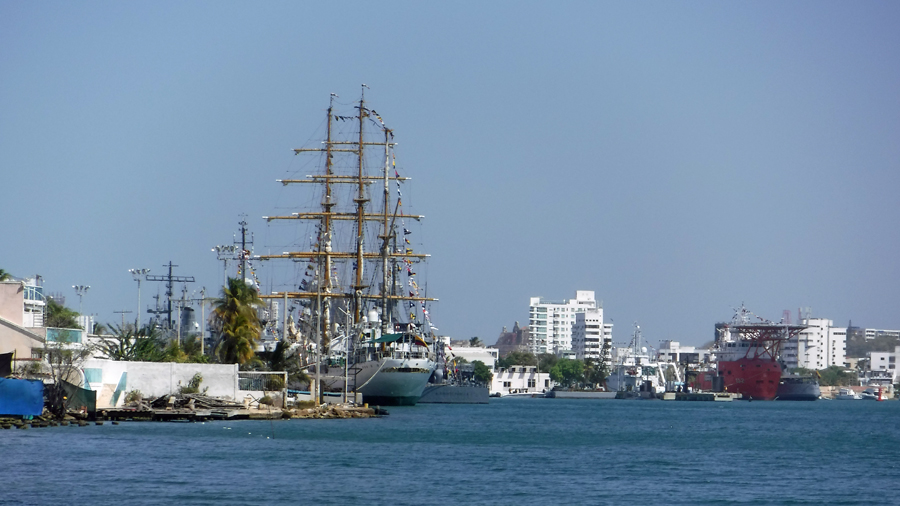 The ARC Gloria - Colombian Navy Tall ship docked at the Navel Station