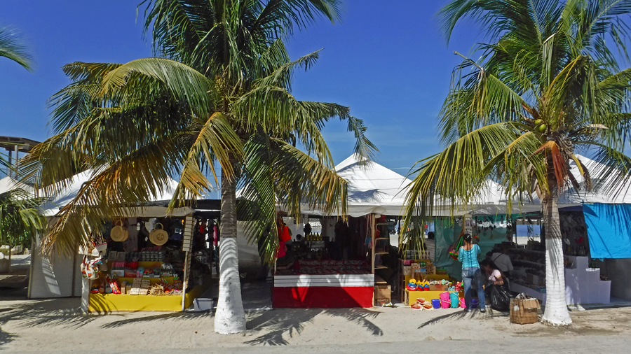 This elaborate market was erected within a couple of days right on the beach