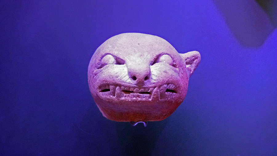 2000 year old clay artifact in the Santa Marta Gold Museum