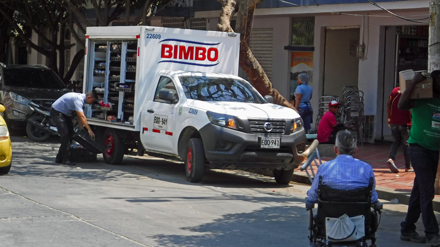 A Bimbo truck means we are in the heart of Bimbo land