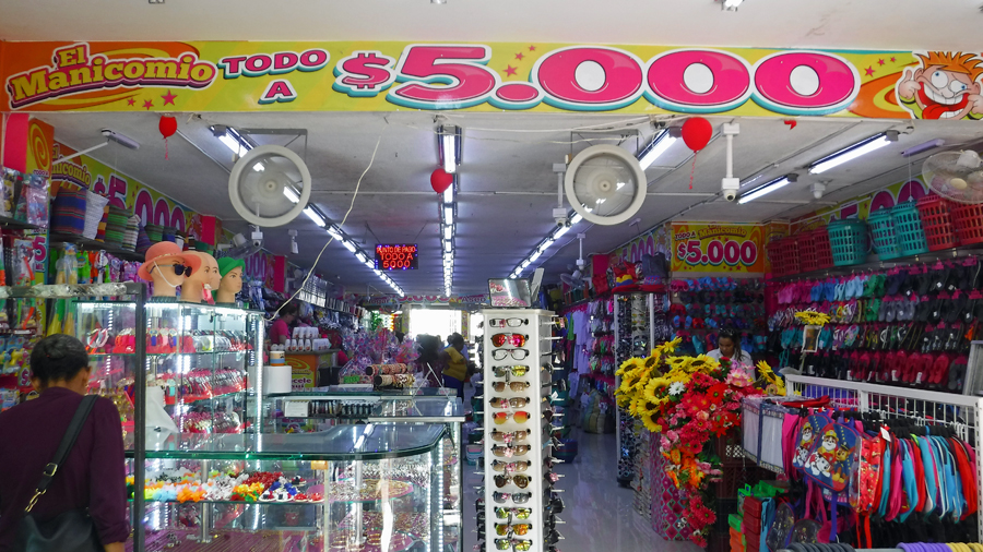 The store where everything is priced at 5,000 Colombian pesos (about US$1.60)